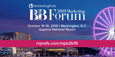 B2B Marketing Forum 2019